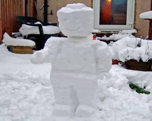 Lego снеговик