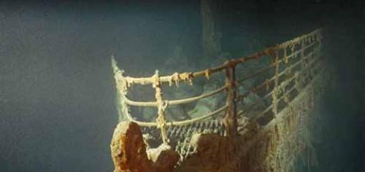 Носовая часть Титаника под водой
