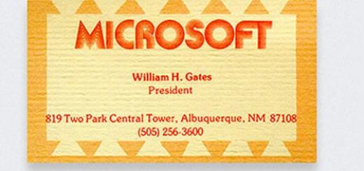 визитка Билл Гейтса