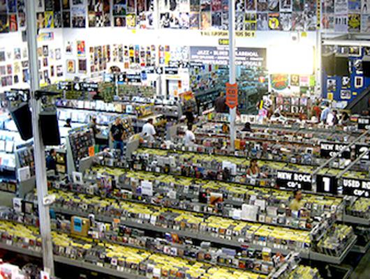 музыкальный магазин Amoeba