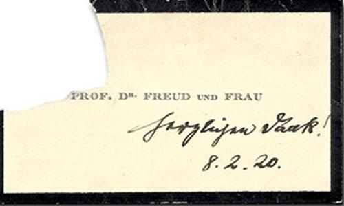 визитка Зигмунда Фрейда