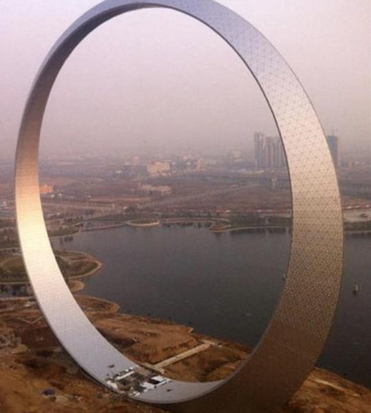 здание кольцо
