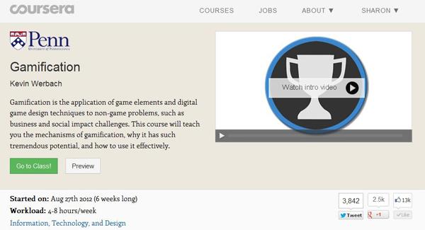 курс по геймификации на Coursera