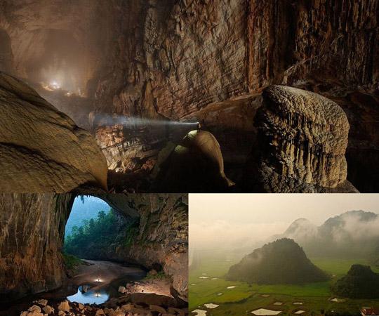 Горная река в пещере провинции Куанг Бинь