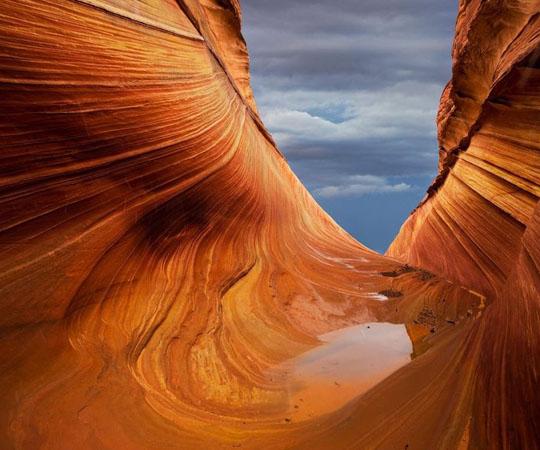 Красивые песчаники образованные в Аризоне