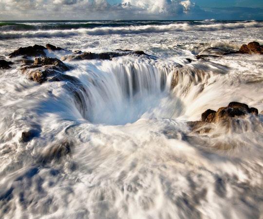 Природные фонтаны из соленой воды в штате Орегон