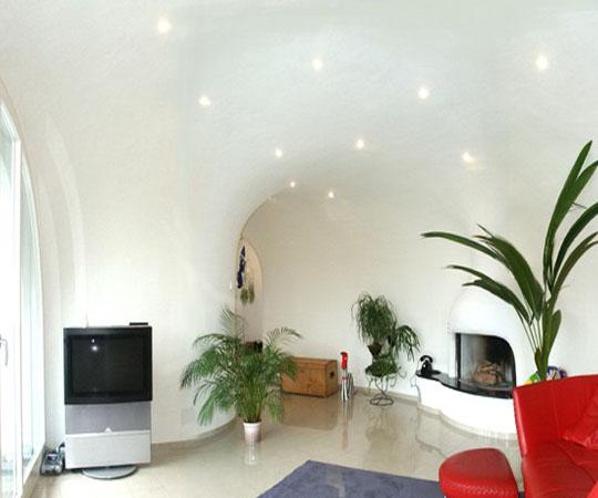 интерьер в доме землянке