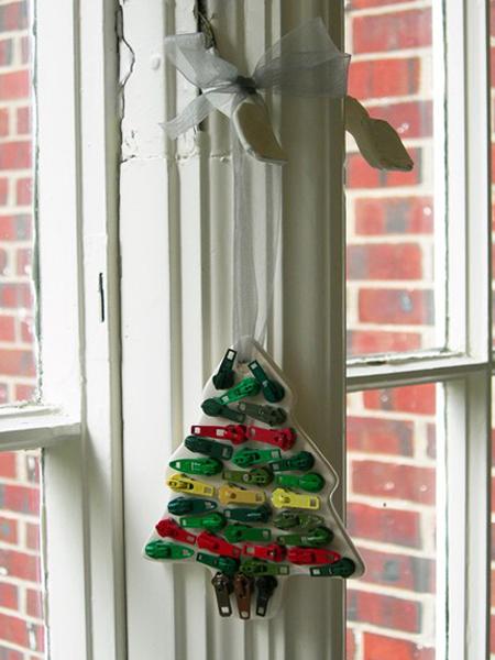 Рождественские украшения из вторичных материалов