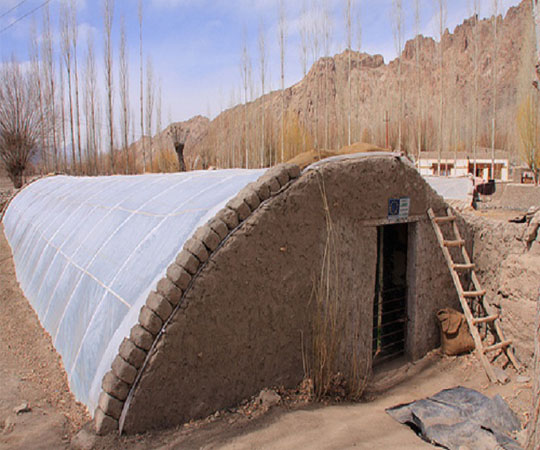 Подземная теплица от Geres (insulated-greenhouse)