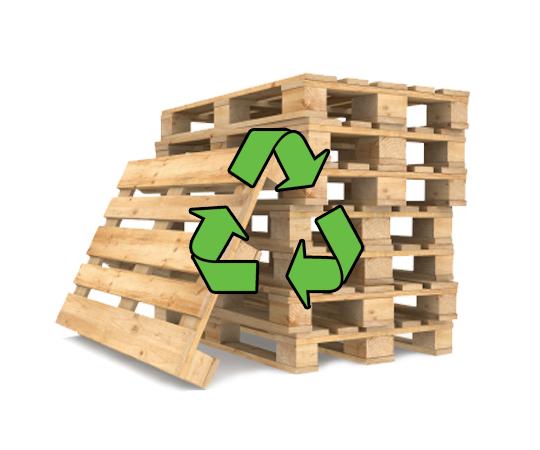 Повторное использования деревянных поддонов