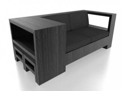 дизайнерский черный диван