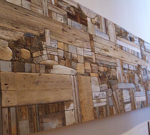 деревянная стена из коряг