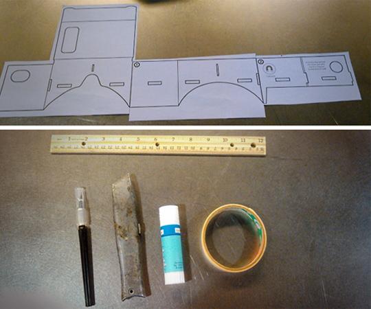 инструменты для изготовления очков виртуальной реальности