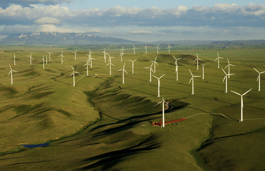 горная ветряная электростанция