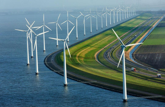 прибрежная ветряная электростанция