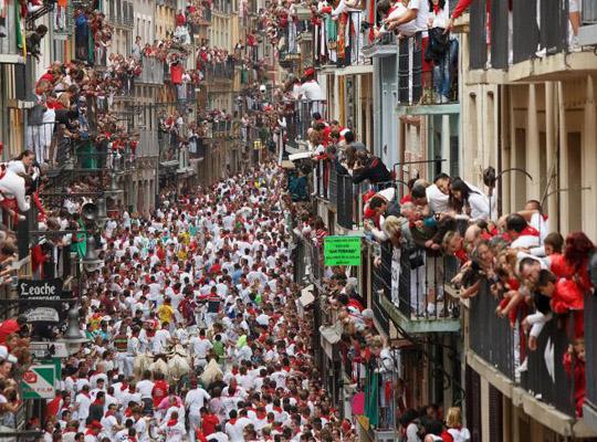 Экстремальный фестиваль в Памплоне, Испания