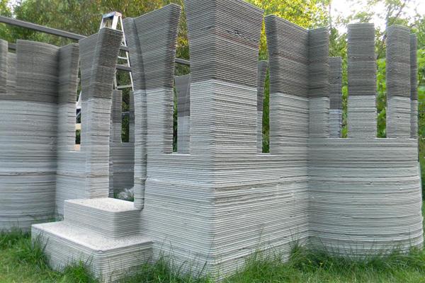 Замок построенный на строительном 3D принтере Andrey Rudenko