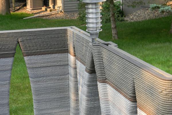 Замок построенный на строительном 3D принтере Андрея Руденко