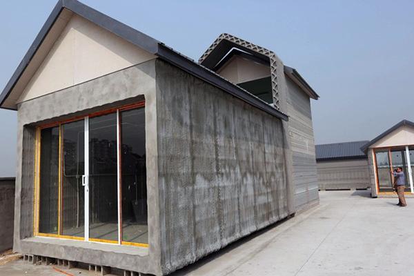 дом построенный строильным 3D принтером