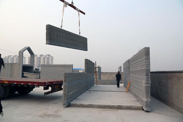 дом построенный строительным 3D принтером в Китае