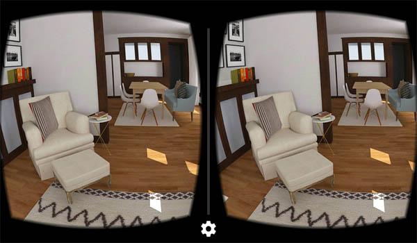 виртуальная реальность квартире в очках