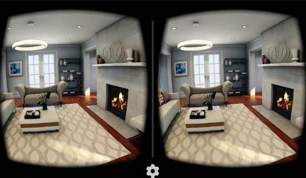интерьер в очках виртуальной реальности