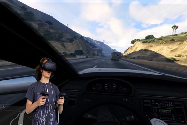 игра GTA5 в очках виртуальной реальности