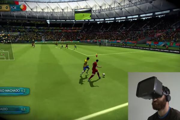 fifa vr game в очках виртуальной реальности
