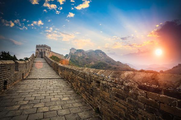 закат на Великой Китайской стене