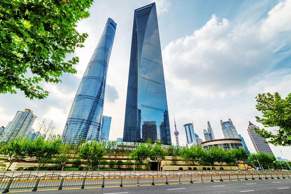 строительство Шанхайского всемирного центра