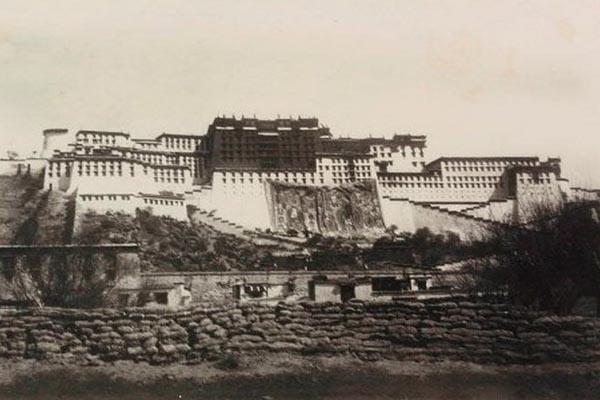 Лхаса (Тибет) старый снимок National Geographic