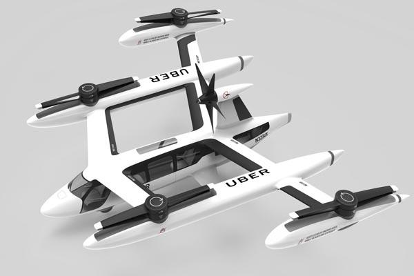 Uber показала прототип своего летающего такси