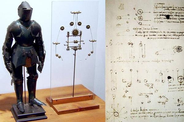 Леонардо да Винчи человекоподобный механизм