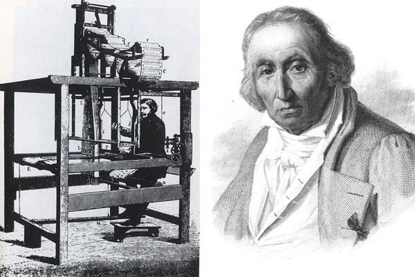 первая автоматизированная линия ткача Жозефа Мари Жаккара