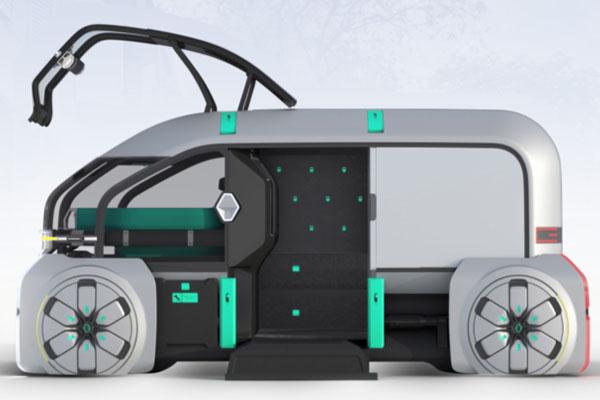 Беспилотное авто Renault EZ-Pro