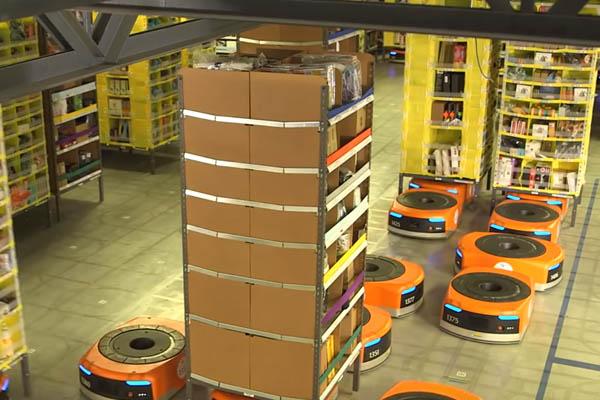 Amazon склад - социальные проблемы робототехники