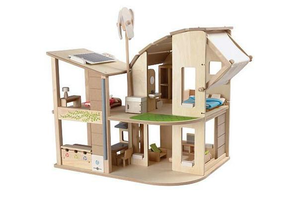 экологически чистые игрушки - деревянный домик