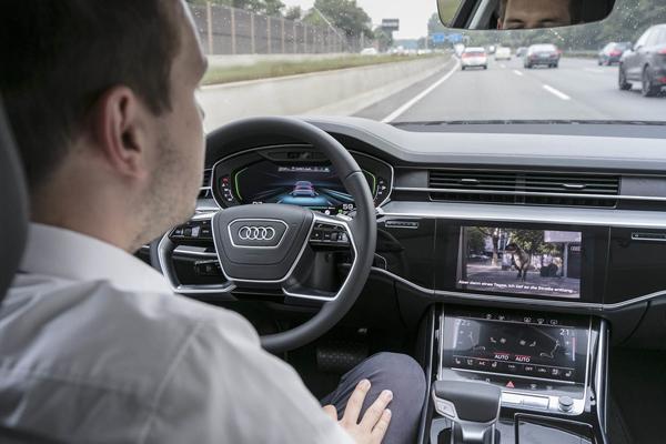 Traffic Jam Pilot A8 беспилотный автомобиль