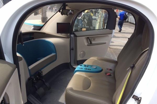 салон беспилотного автомобиля