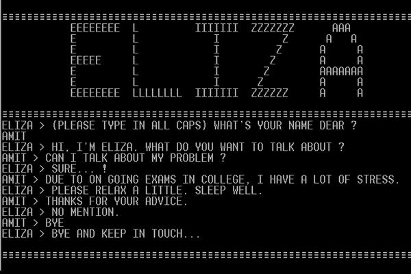 Eliza первый голосовой помощник
