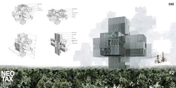 NeoTax — трехмерный город будущего