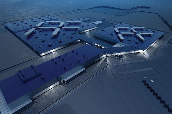 концепт завода компании Faraday Future