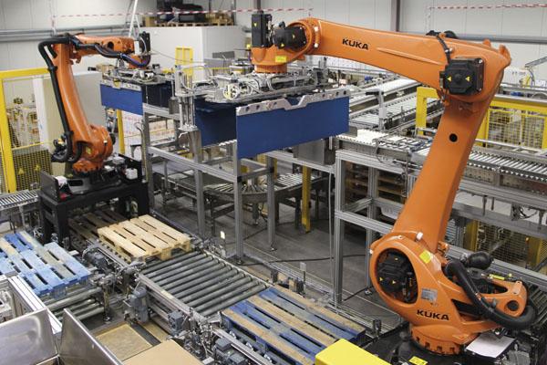 промышленные роботы-палетоукладчики Kuka