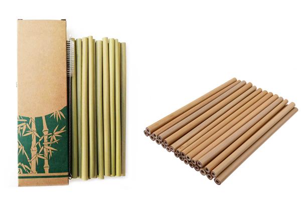 эко бамбуковые трубочки для коктейлей