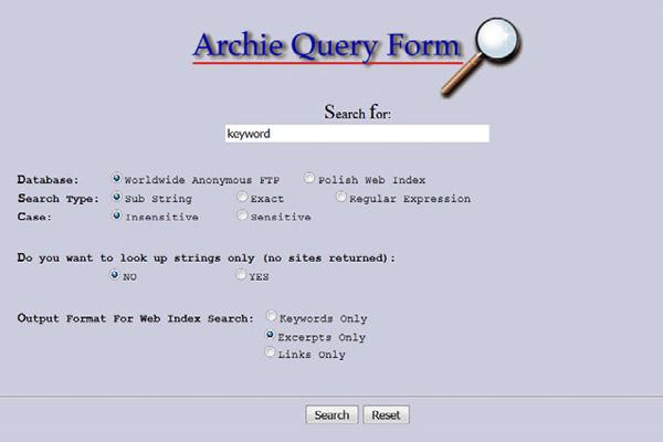 создание поисковой системы Archie