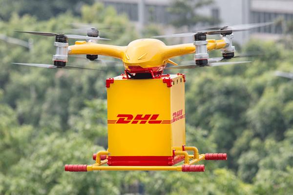 доставка товаров грузовым дроном в Китае