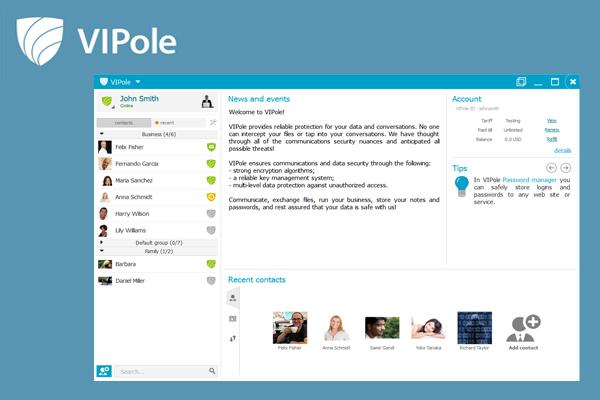 VIPole Secure Messenger защищенный мессенджер