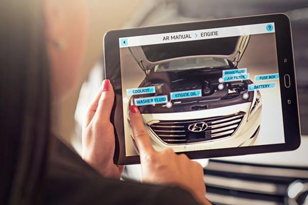 дополненная реальность в бизнесе: Hyundai ремонт