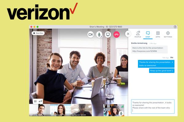 сервис для видеоконференции Verizon (Bluejeans)