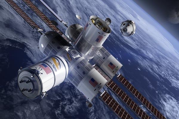 космическая база на орбите Aurora Station